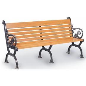 上海新材料氟碳水印木纹铝仿木金属公园休闲1800mm园林椅5