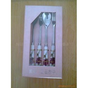 不锈钢陶瓷四件套餐具 泰展