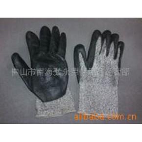 黑色涂胶手套劳保用品 防滑手套
