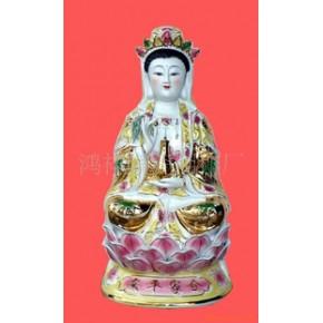 工艺品18寸陶瓷金身财神.佛像.观音像