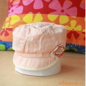 日本春夏新款童帽 HUSHHUSH粉色贝雷帽