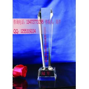 企业单位业余活动比赛奖杯,羽毛球比赛奖杯,武昌水晶奖杯
