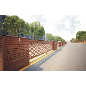 比PVC塑木防腐木铁艺更好的新型户外仿木金属交通护栏02
