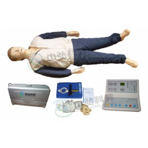高级小屏幕液晶自动电脑心肺复苏模拟人(2010新版)、成人心