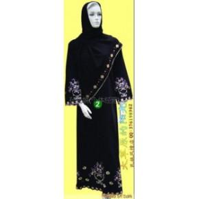 穆斯林礼拜服、回族服装、穆斯林黑袍 批发