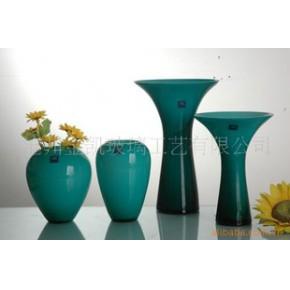 彩色玻璃花瓶 普通玻璃 花瓶