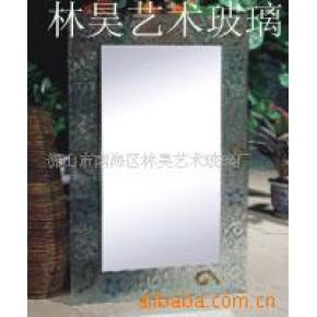 浴室镜子,工艺镜框加工 林昊艺术玻璃