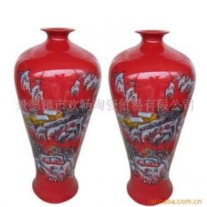 F-0052 景德镇陶瓷梅瓶大花瓶花器花瓶仿古春雪