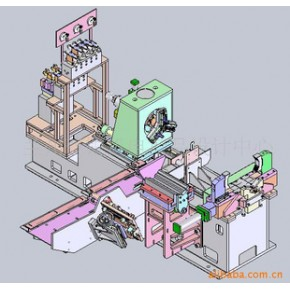 套管生产线接箍预拧接机三维