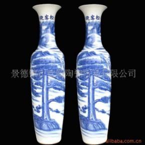 DHP-087 景德镇青花仿古花瓶大花瓶装饰花瓶