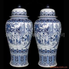 DHP-090 景德镇青花仿古花瓶大花瓶装饰花瓶
