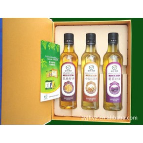 礼盒装营养食用油(亚麻籽油、葡萄籽油等)
