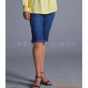 夏季薄款时尚孕妇牛仔中裤孕妇五分裤 孕妇裤/