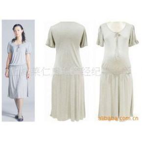 纯灰色优雅孕妇连衣裙/连身裙 超嗲