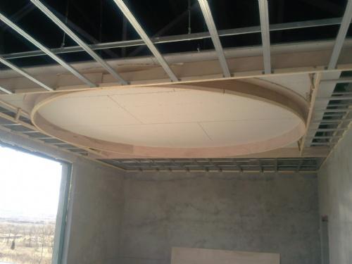圆形吊顶施工中