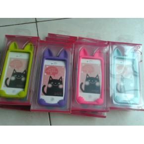 iPhone4硅胶手机套厂家现货供应