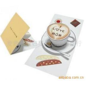 批发供应立体贺卡系列 茶杯 立体纸模型