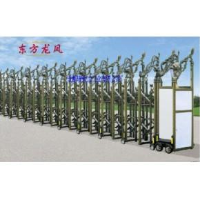 阿坝电动伸缩门供应成都伸缩门代理电动门安装电动旋转门