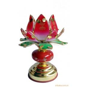 佛教工艺品,莲花灯 玻璃