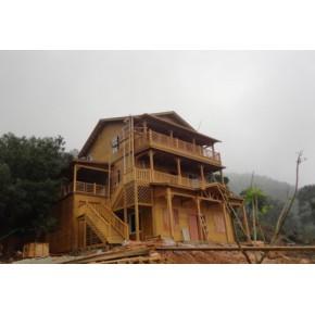 福州 木屋设计公司 木栏杆设计 防腐木景观设计
