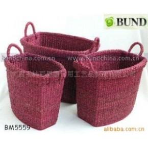 草编收纳篮,杂物收纳整理编织篮,草编储物篮