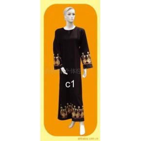 批发供应穆斯林礼拜服、回族黑袍、穆斯林服装C1