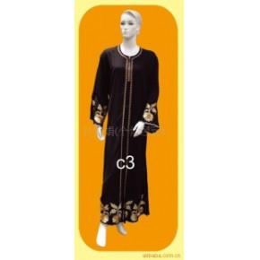 穆斯林礼拜服、回族服装、穆斯林黑袍 c3