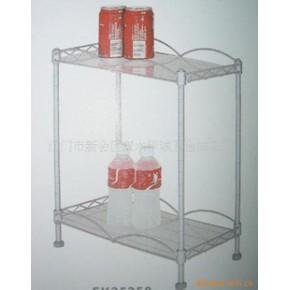 长方形配玻璃两层置物架 华诚