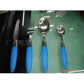 优质抛光PP塑胶柄刀叉餐具