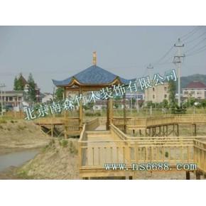 木亭、木亭子、休闲木亭、木桥、木结构、木制品