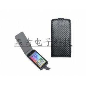 HTC G14 sensation 斜纹纹理上下开手机保护套