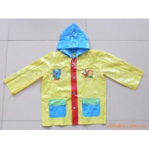 出口PVC儿童雨衣 PVC光膜儿童雨衣