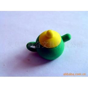 【批发供应】茶壶橡皮 3D橡皮 热卖