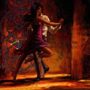 古典油画激情拥舞的人装饰画