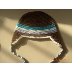 手钩帽 手勾童帽 毛线帽  儿童帽