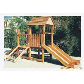 垃圾桶.木制组合滑梯.环堡垃圾桶.户外休闲椅.