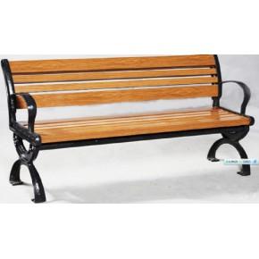 上海木纹装饰型材10年品质保证木纹铝合金园林椅2