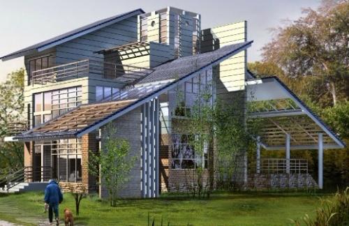 轻钢结构集成式别墅,农村集成房屋