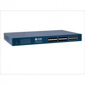 时速科技优肯千兆16光8电管理型光纤网吧交换机