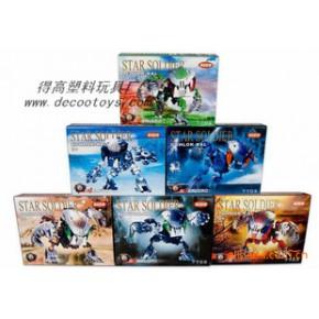 得高77B盒装星际战士 儿童DIY玩具 拼装机器人