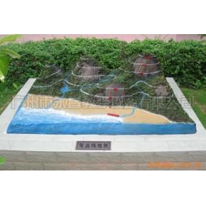等高线模型 地理园 地理模型 教学模型