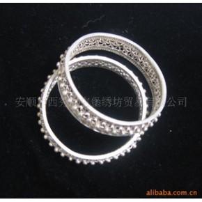 银手镯 纯银纯手工 纯银