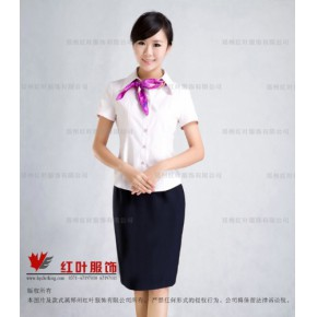 夏季女职业装衬衣-郑州红叶服饰有限公司
