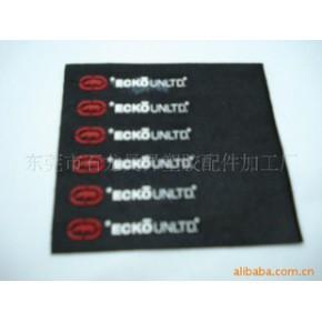 硅胶压布商标/硅胶压毛绒布胶章