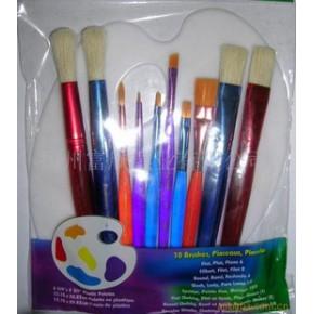 【】供应彩色杆画笔和调色盘套装