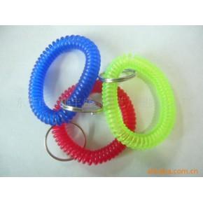 PVC透明QQ圈 透明弹簧圈 塑料弹簧圈