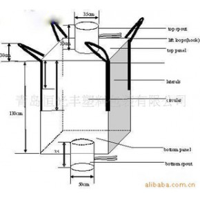 碱类制品包装用集装袋/聚丙烯调料袋/聚乙烯编织袋