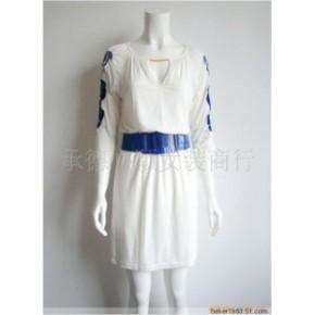 批发供应范冰冰同款刺绣V领优雅连衣裙子