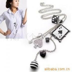 韩国明星毛衣链 塑料/树脂