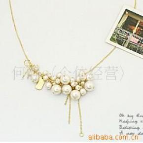 韩国明星毛衣链 铂金(白金)